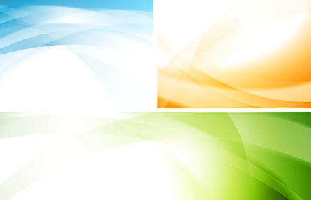 banner background: Abstract colourful wavy backgrounds and banner
