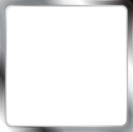 Abstract metallic silver vector frame Vector