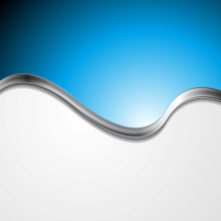 blue metallic background: Abstract blue background with metallic wave