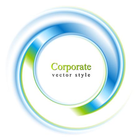rayas de colores: Resumen c�rculo de fondo brillante. Logo Vector eps 10