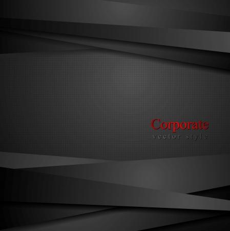 Abstracte zwarte strepen tech achtergrond Stock Illustratie