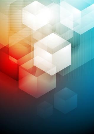 fondo cuadritos: La tecnolog�a de vector de fondo abstracto Vectores