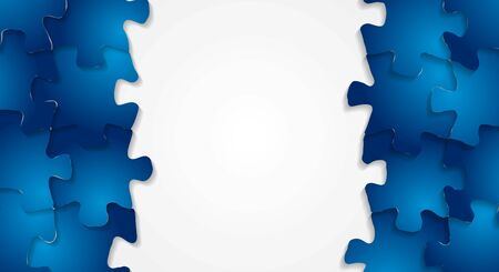 Abstract technology puzzle vector background Vector