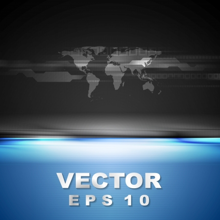 Abstract contrast vector tech background Stock Vector - 25406981
