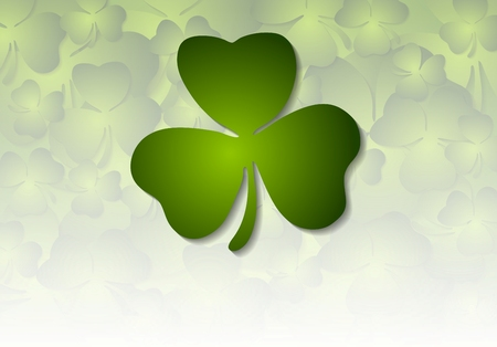 clover backdrop: St. Patricks Day abstract vector background