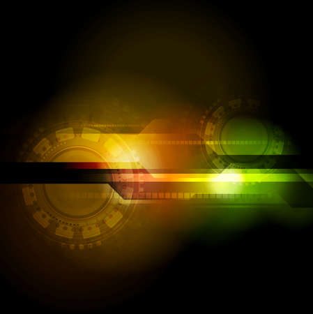 Bright technology background Stock Vector - 25816916