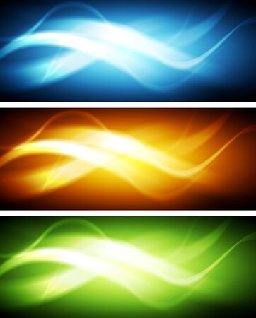 Abstract wavy bright vector banners Vector