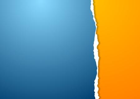 modrý: Abstraktní vektorové papírové pozadí s otrhané okraje