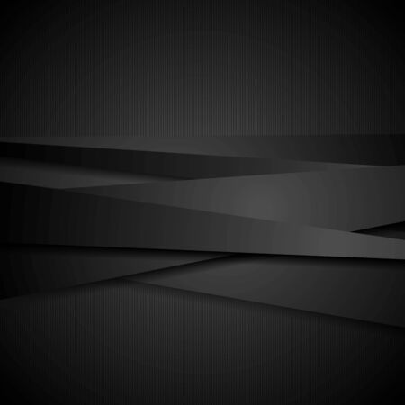Abstract black stripes tech  Vector