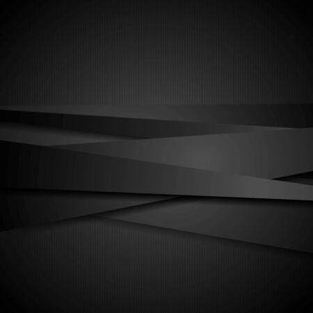 elegant background: Abstract black stripes tech
