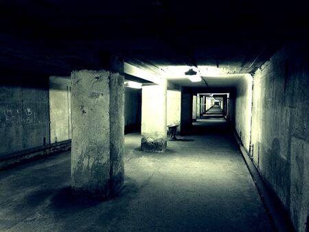 industrieel: Underground tunnel Stockfoto
