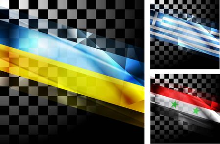 ukrainian flag: Concept design of flags. Ukraine, Greece and Syria.  Illustration