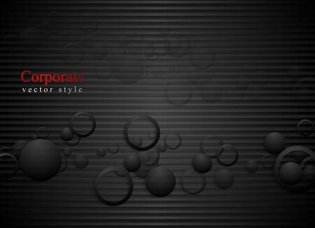 shiny black: Dark abstract vector background