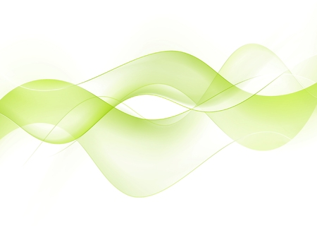 Green wavy background Vector