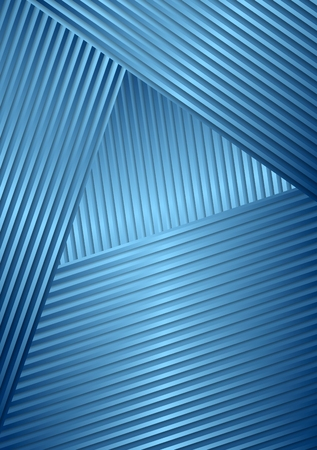 Abstract blue striped background Vector
