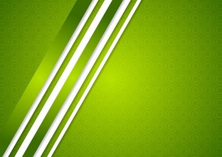 Bright green abstract background with stripes Vector