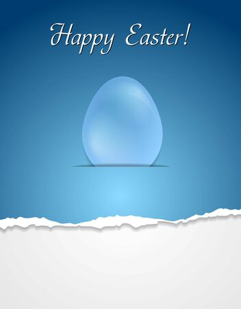 Easter egg vector background with ragged edge paper Vector