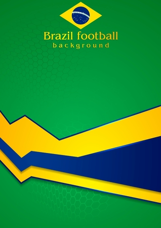 Corporate background in Brazilian colors Vector