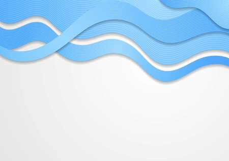 wavy lines: Abstract blue waves. Vector design eps 10 Illustration