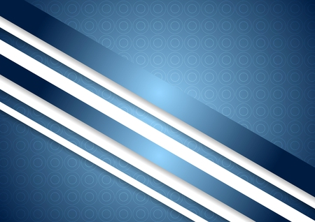 Bright blue abstract background with stripes Vector