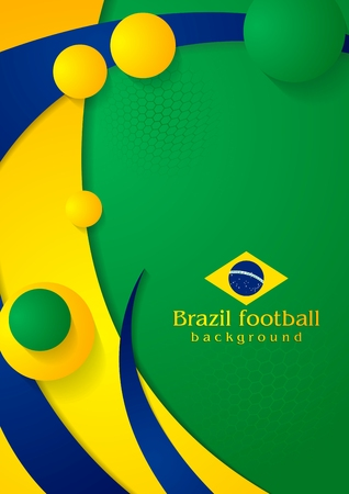 Bright wavy background in Brazilian colors Vector