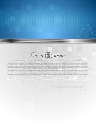 blue metallic background: Hi-tech vector corporate background Illustration