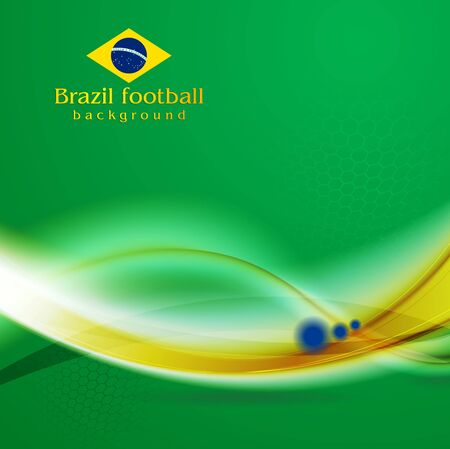 world cup: Waves background in Brazilian colors
