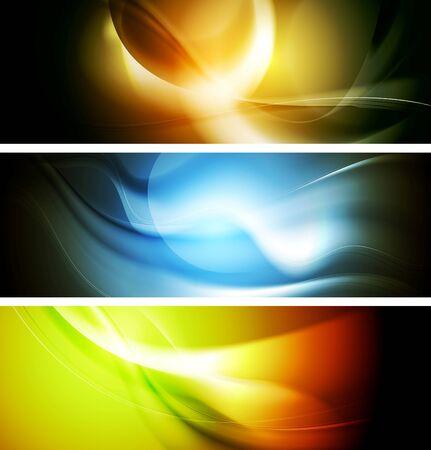 iridescent: Bright wavy background. Gradient mesh