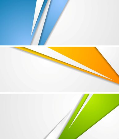 Abstract tech corporate banners. Vector