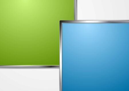 Corporate background with metallic framework Vector