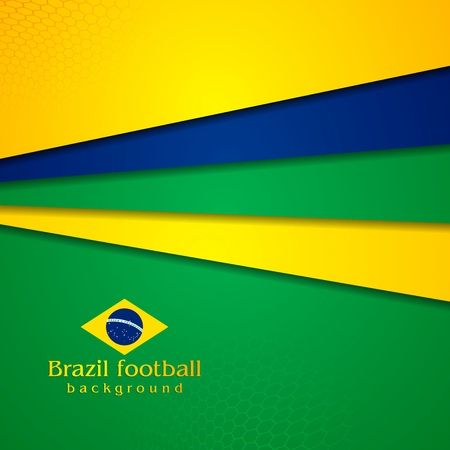 world cup: Tech vector background in Brazilian colors Illustration