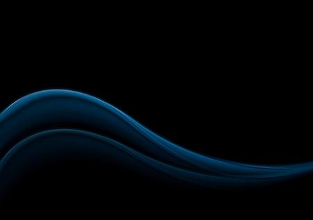 iridescent: Dark blue smooth vector waves Illustration