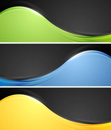 Abstract wavy banners illustration Vector