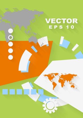 Abstract concept flat tech design background Vector