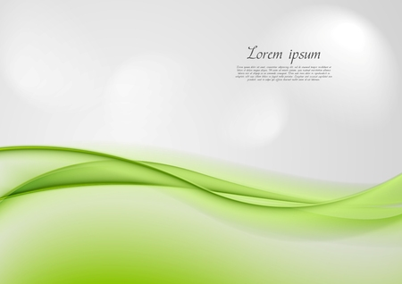Abstract shiny green waves vector background