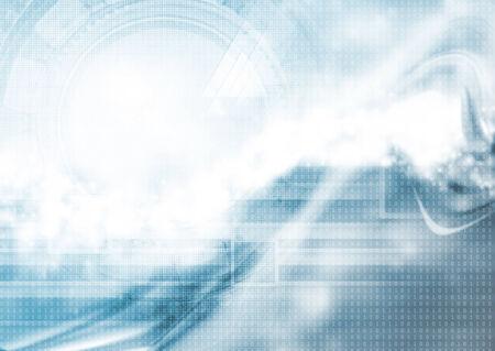 codigo binario: Hi-tech ondulado abstracto azul de fondo