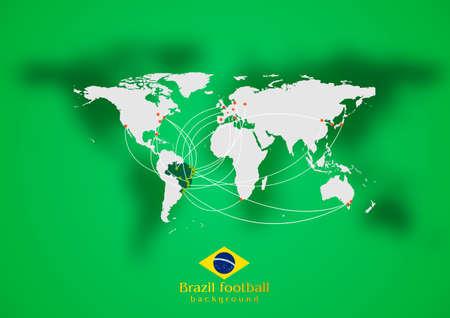 air traffic: Dise�o del tr�fico a�reo Concept. Colores brasile�os. Vector de fondo