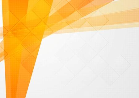 Abstract orange technical backdrop. Vector design