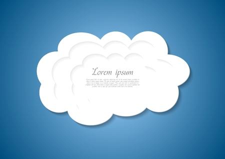 抽象的な白い雲のベクトルの背景
