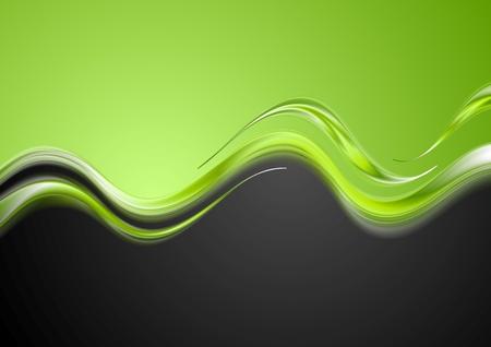 contraste: Dise�o de ondas de contraste brillante. Vector de fondo