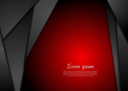 red abstract backgrounds: Abstract dark tech background. Vector design Illustration