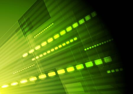 Green hi-tech motion background. Vector design Vector