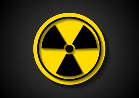 Nuclear radiation abstract symbol Vector