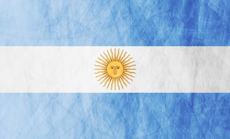 argentinean: Grunge illustration of Argentinean flag. Vector background