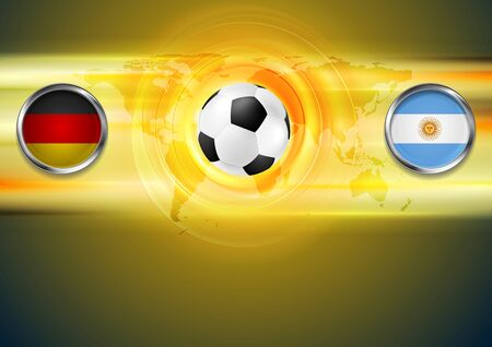 Germany and Argentina football design Vector