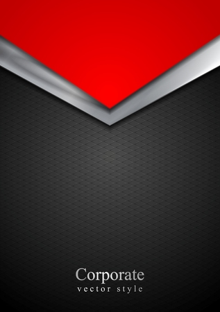 Dark silver and red tech arrows design. Vector background