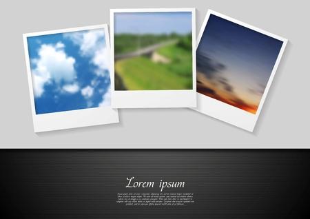 Polaroid photo abstract vector background