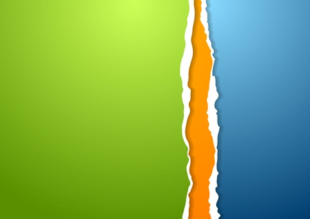 Abstract ragged edge paper background. Vector design