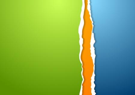 roztrhaný: Abstrakt rozedraný hrany papírové pozadí. Vector Design Ilustrace
