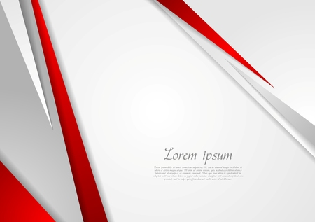 gray: Grey and red corporate technology design. Vector background Illustration